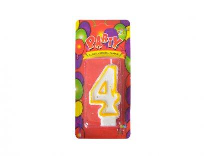 narozeninová svíčka 4