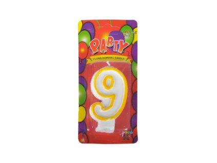 narozeninová svíčka 9