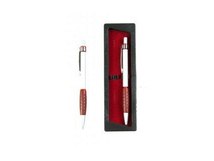 pero a tužka šedá s červenou