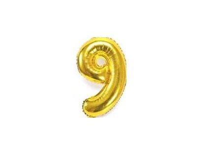 nafukovací balónky 9 zlatý