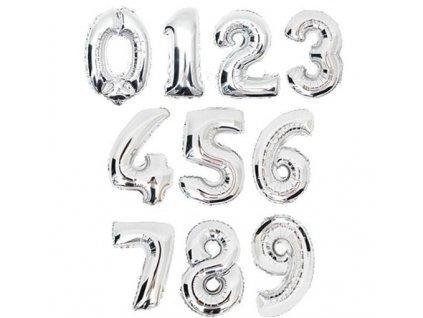 nafukovací balónky stříbrné