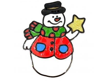 3836 samolepka snehulak