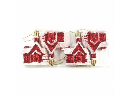 domečky červené