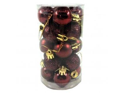 vánoční koule vínové 20 ks