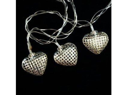 vánoční řetěz srdce