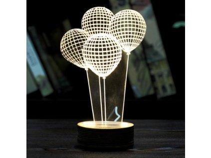 LED lampa balónky