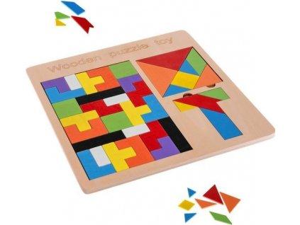 Dřevěná skládačka puzzle