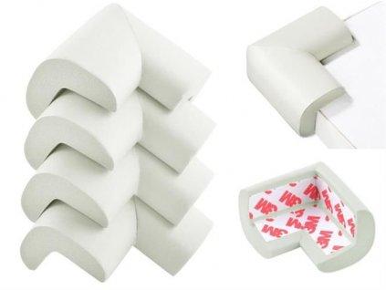 Pěnová ochrana na roh stolu bílá 1