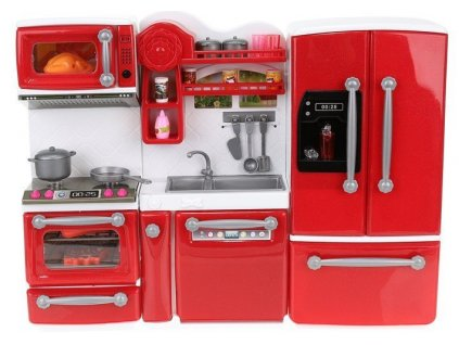 kuchyňka pro papenky červená 1
