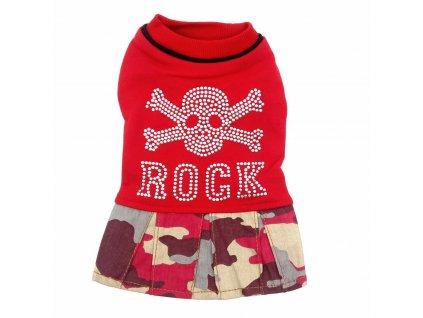obleček pro psy červený přední strana