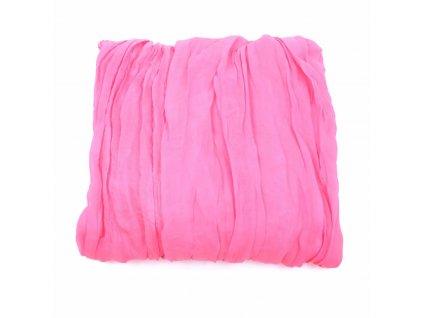 šátek neon růžová krep