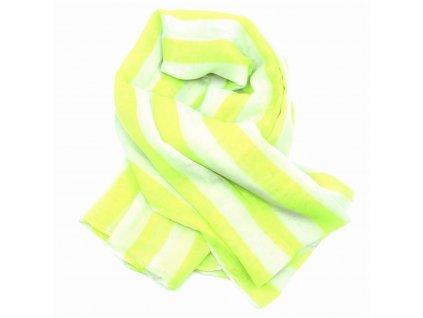šátek žluté pruhy