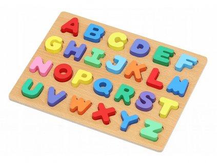 Dřevěné puzzle písmena