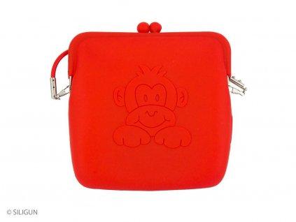 Kabelka červená monkey