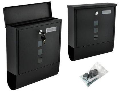 Poštovní schránka černá 1