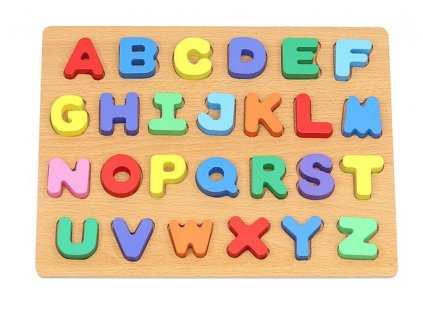 Dřevěné puzzle abeceda