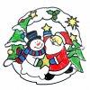 vánoční samolepka Santa Claus a sněhulák