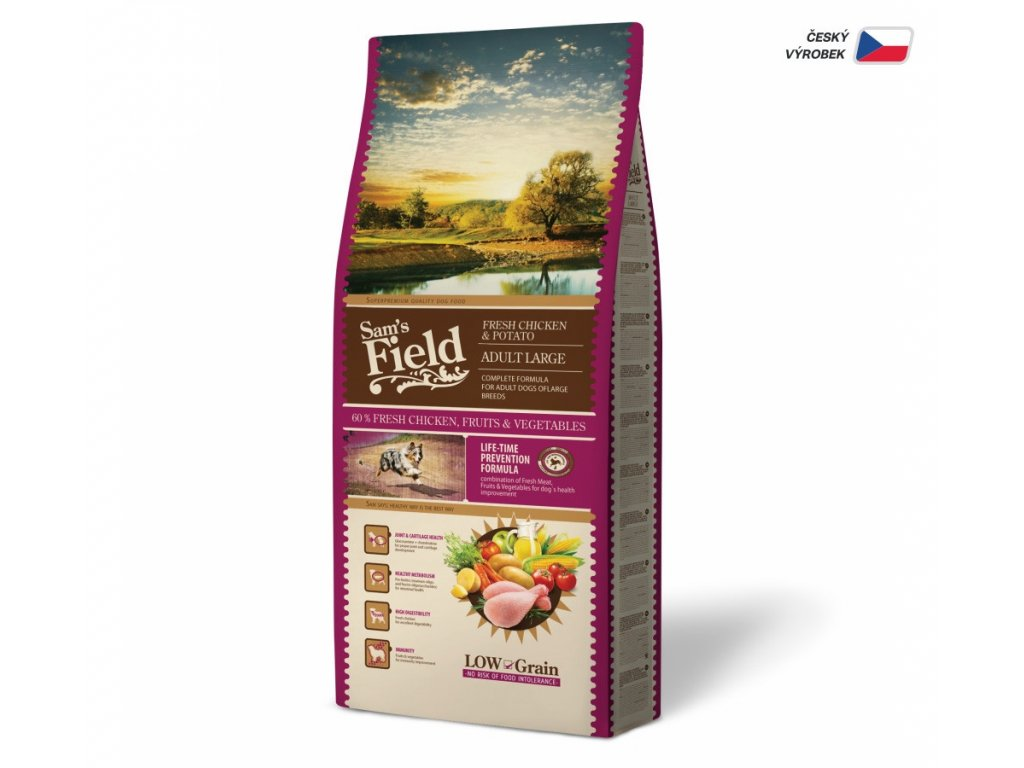 44521 sams field adult large chicken and potato 13 kg 1