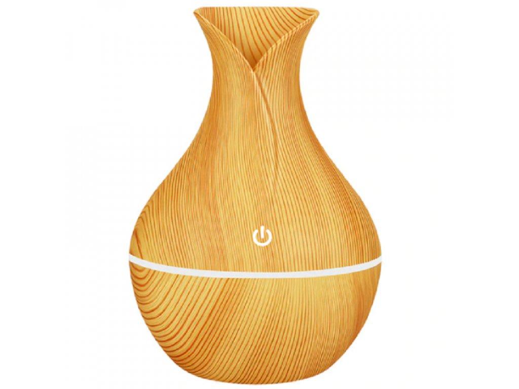 Mini Aroma difuzér / FlowMe Air Sence / objem 130ml / světlé dřevo