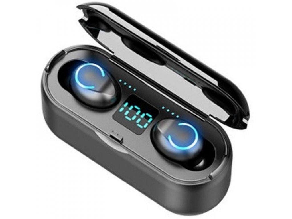Bezdrátová sluchátka / FlowMe TWS F9 Stereo / Černé
