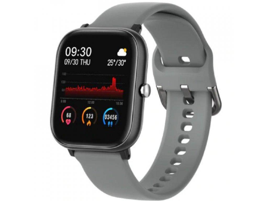 Chytré hodinky / SmartXP8 Fit / šedé