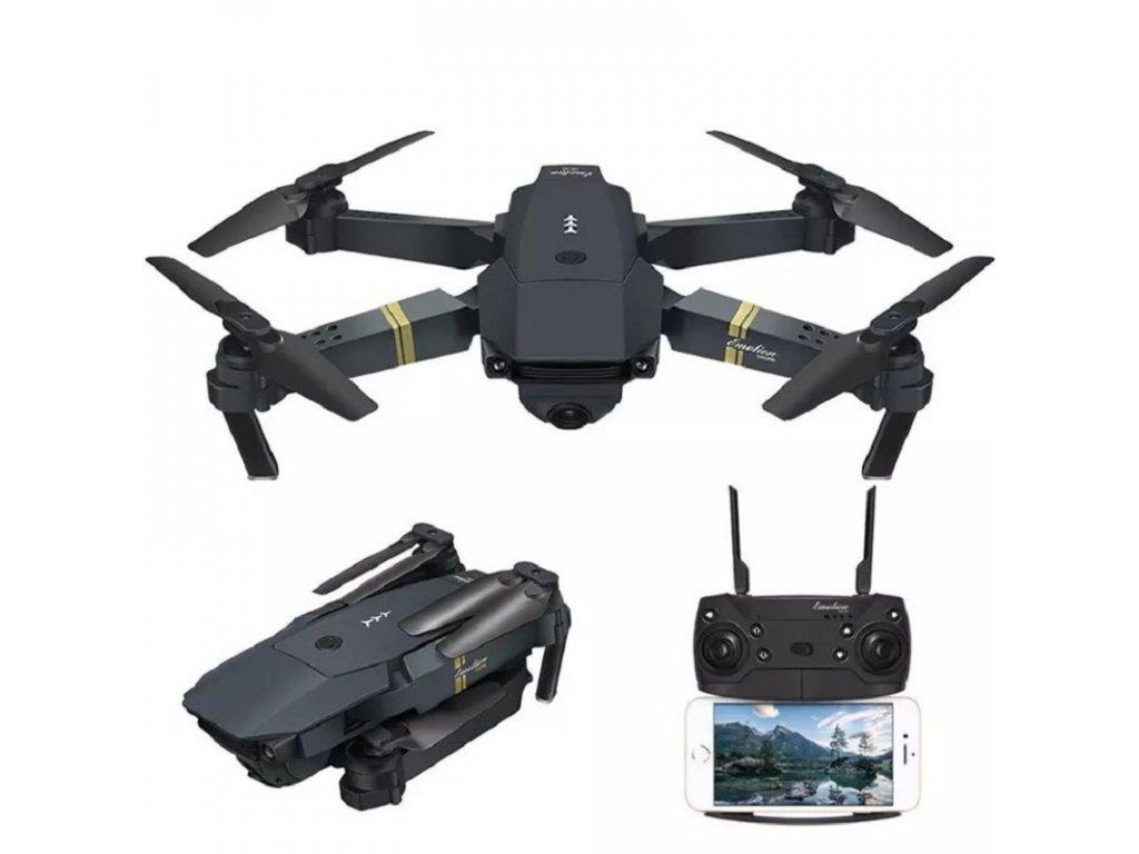 Dron Lemax E58 Pro / HD kamera 1080P / WiFi / dálkové ovládání / 3x baterie