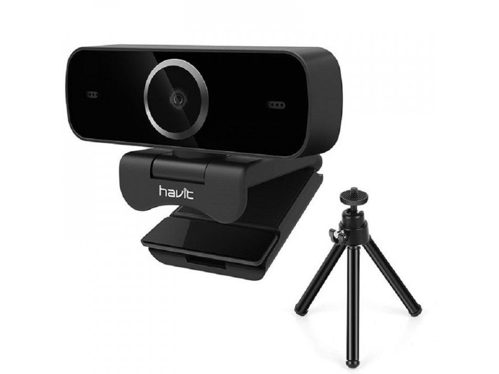 USB Webkamera / Havit H100 / černá / 1080p FULL HD