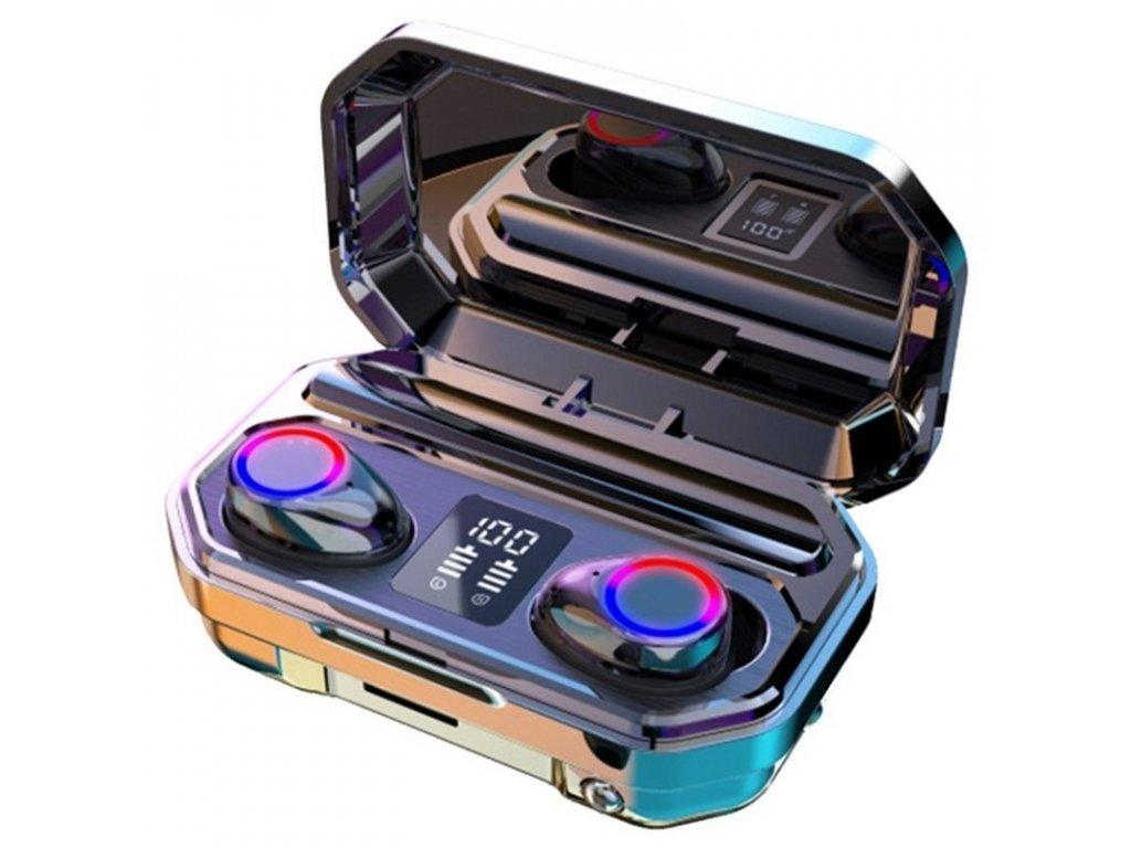 Bezdrátová bluetooth sluchátka / ProTech M12 TWS / Černé