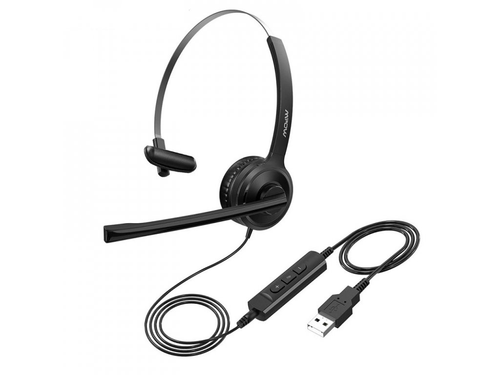 Počítačová sluchátka s mikrofonem / Seen Voice BH32 / USB připojení