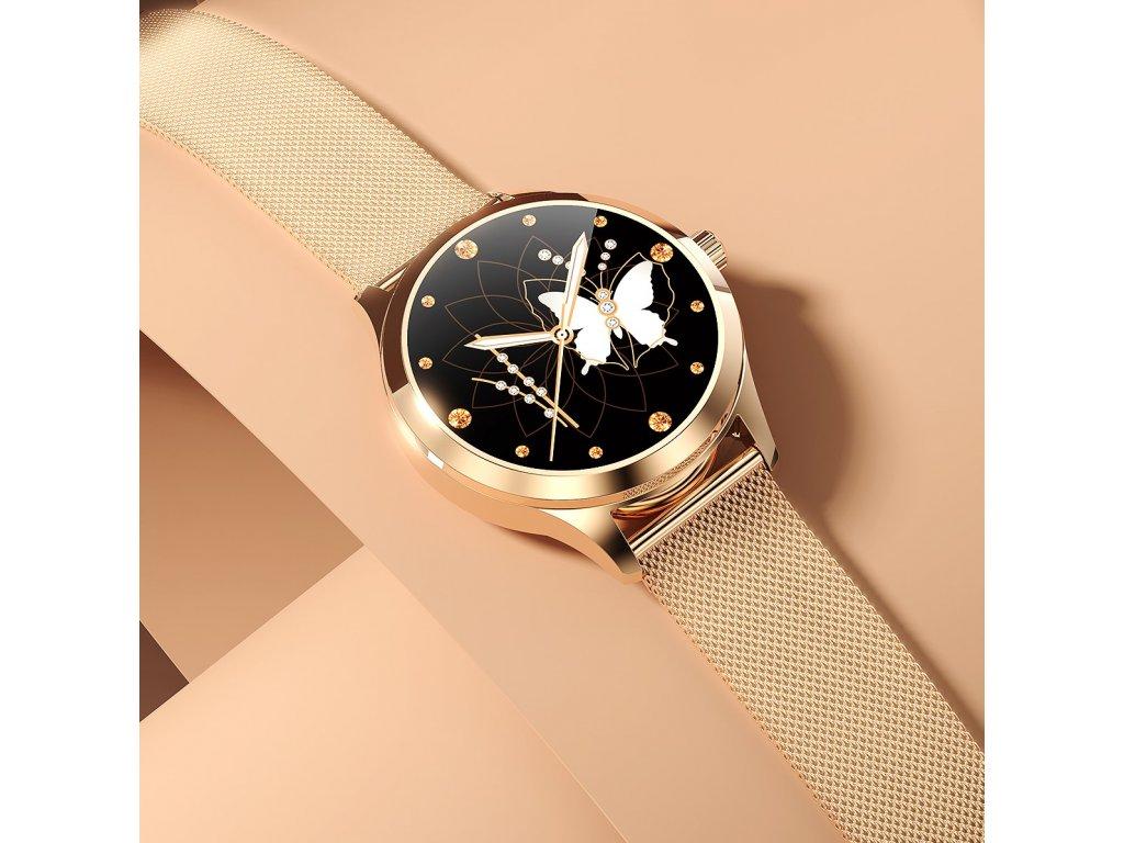 Dámské chytré hodinky / Lemfo WomenFit-WD12 / zlaté