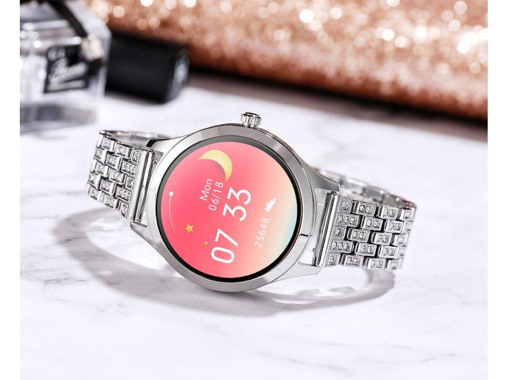 Dámské chytré hodinky / Lemfo WomenFit-WD12 / stříbrné