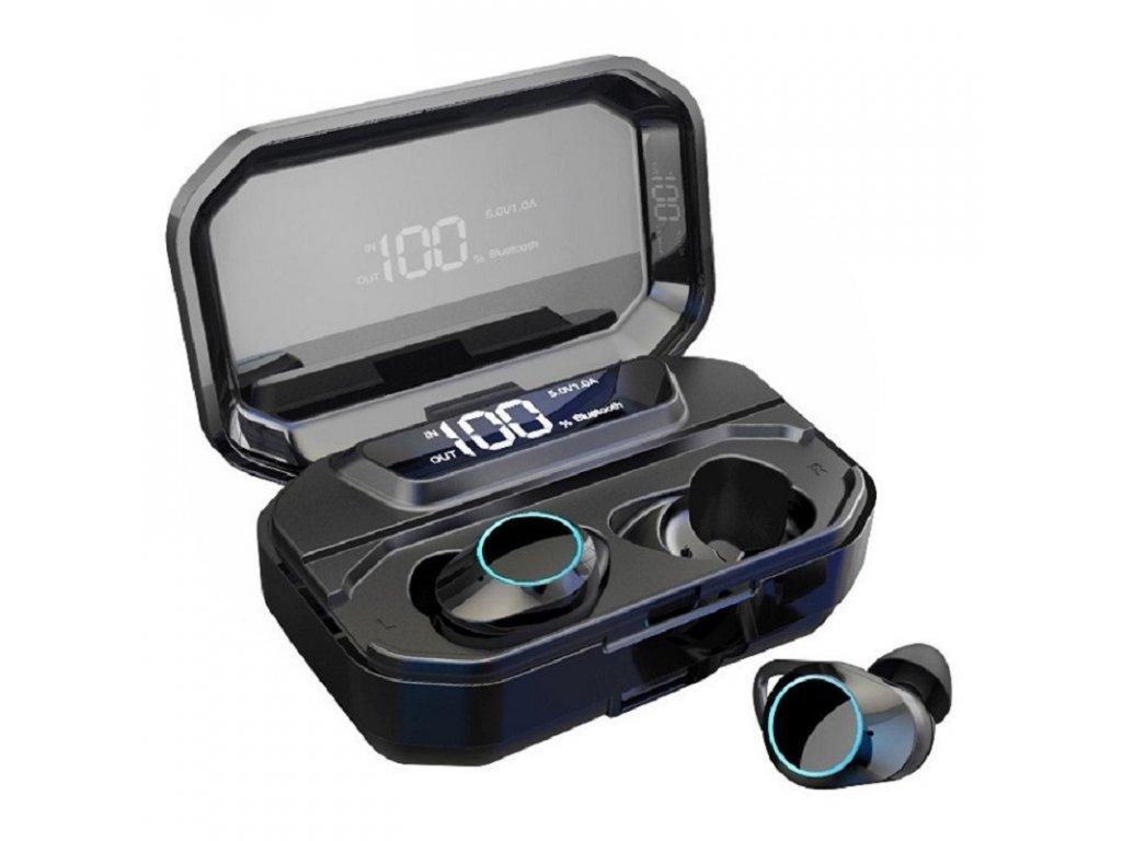 Bezdrátová bluetooth sluchátka / Pirrix-G02 TWS Stereo / Černé