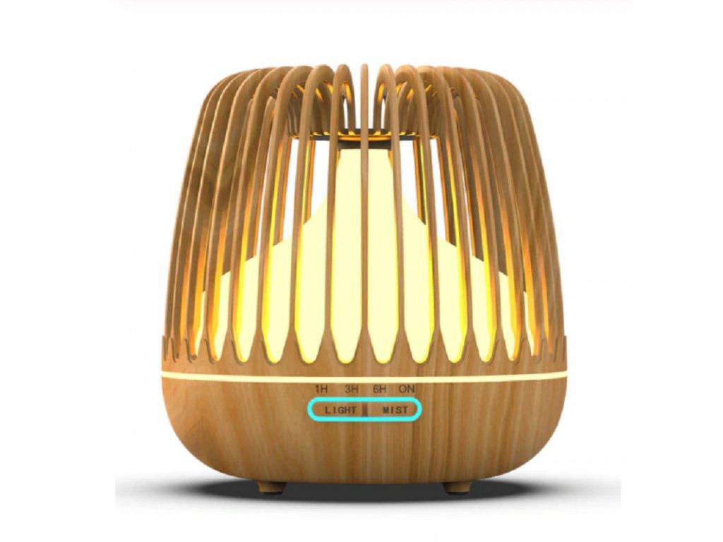 Aroma difuzér / FlowMe Spa / světlé dřevo / objem 500ml