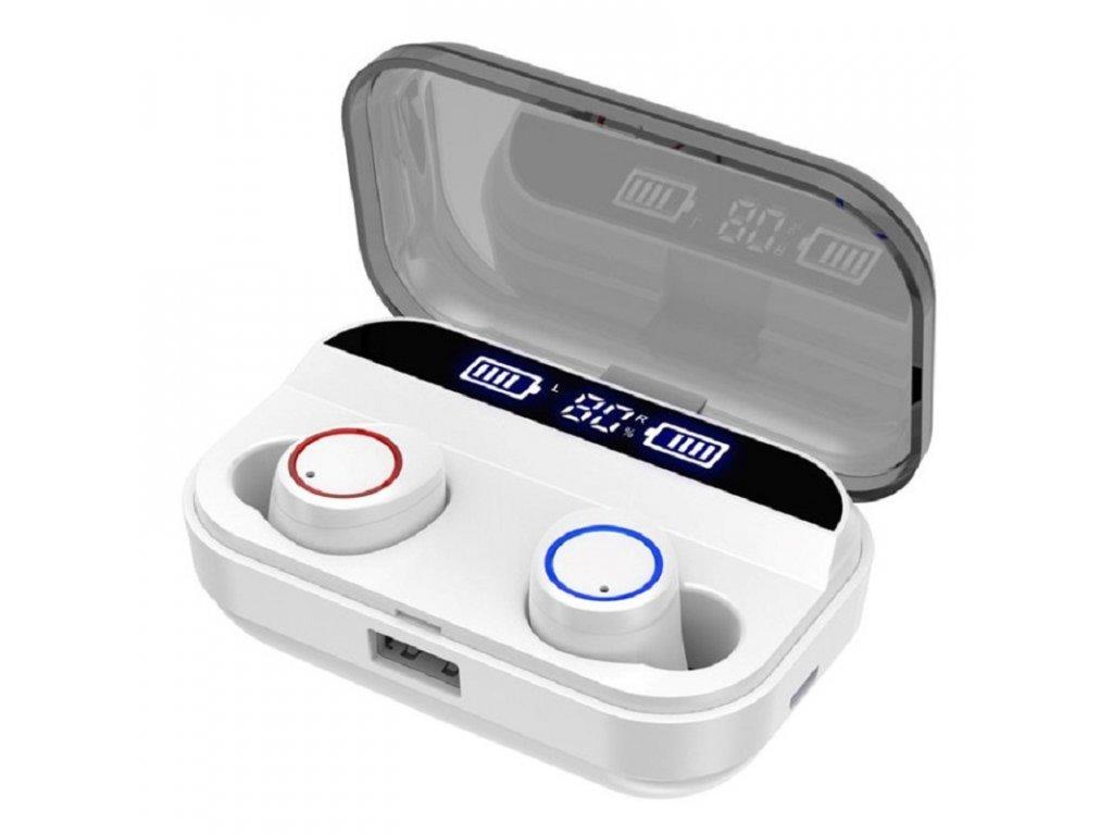 Bezdrátová bluetooth sluchátka / Pirrix-X11 TWS Stereo / bílá
