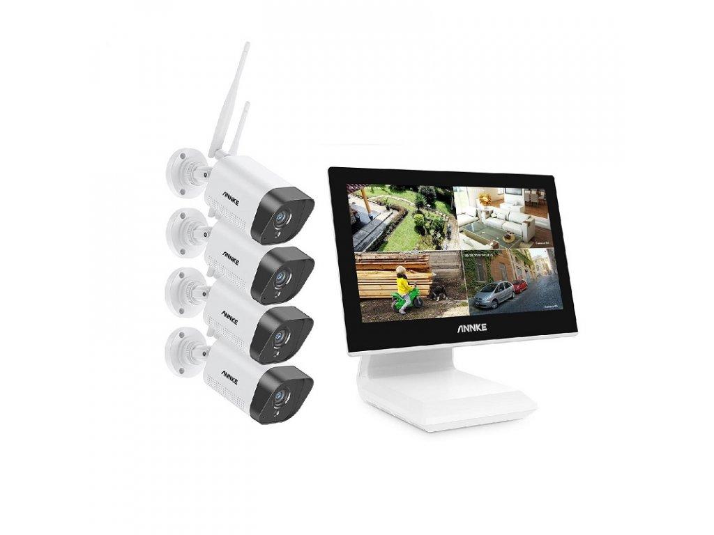 WiFi kamerový systém / ANNKE EE-71 GK / rozlišení 3MP / úložiště 2TB