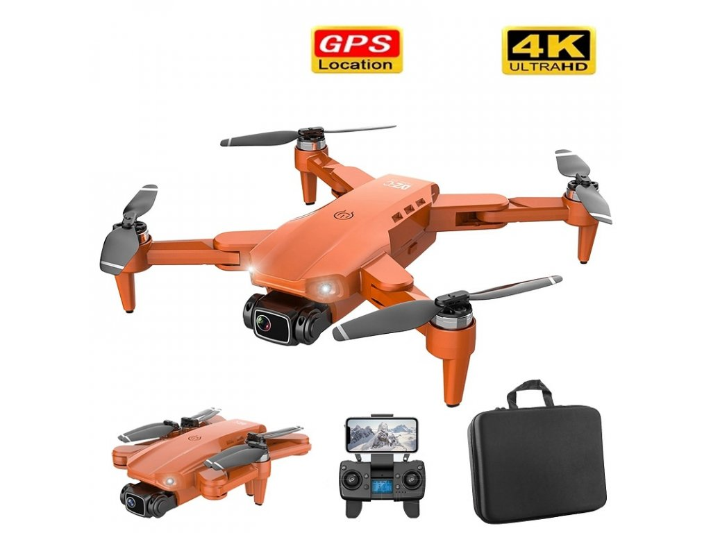 Dron Lixu L900 Pro / 4K kamera / WiFi / GPS / 1x baterie / orange
