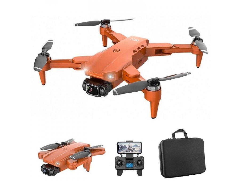 Dron Lixu L900 Pro / 4K kamera / WiFi / GPS / 3x baterie / orange