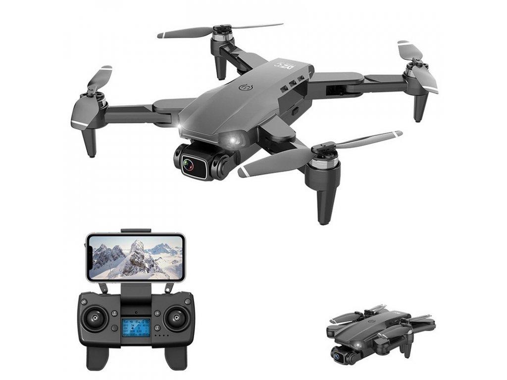 Dron Lixu L900 Pro / 4K kamera / WiFi / GPS / černý / 1x baterie