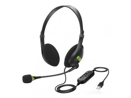 Počítačová sluchátka s mikrofonem / Seen Voice S-12 / USB připojení