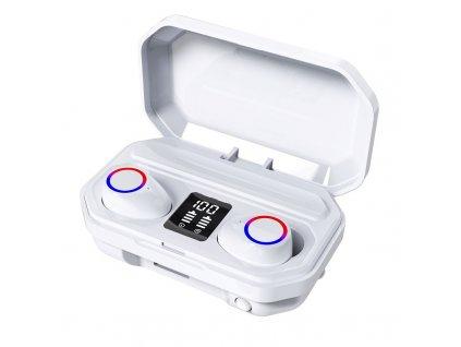 Bezdrátová bluetooth sluchátka / ProTech M12 TWS / Bílé