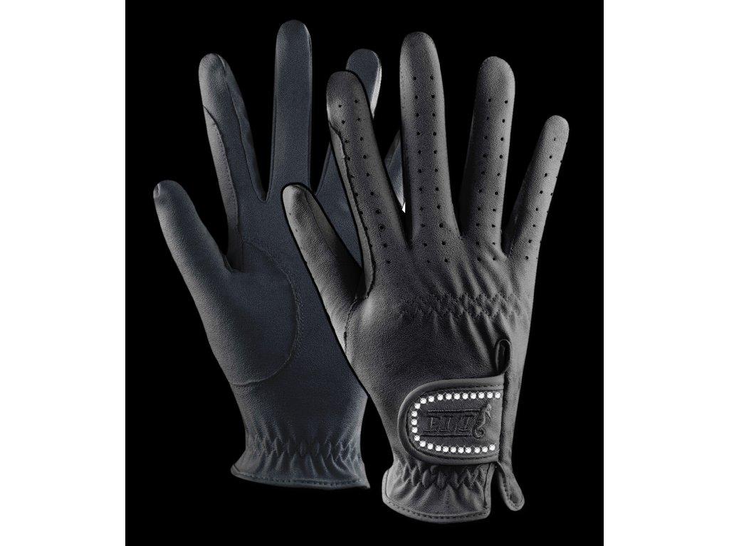 187 rukavice jezdecke elt cerne s