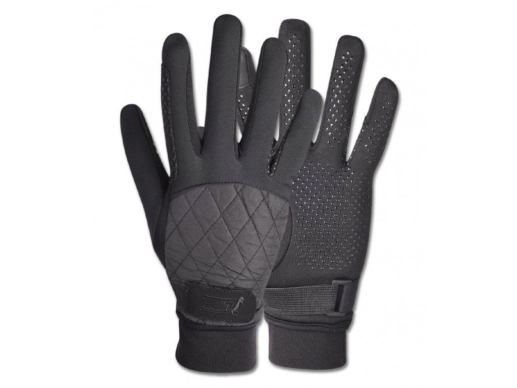 Jezdecké rukavice Julika zimní černé ELT