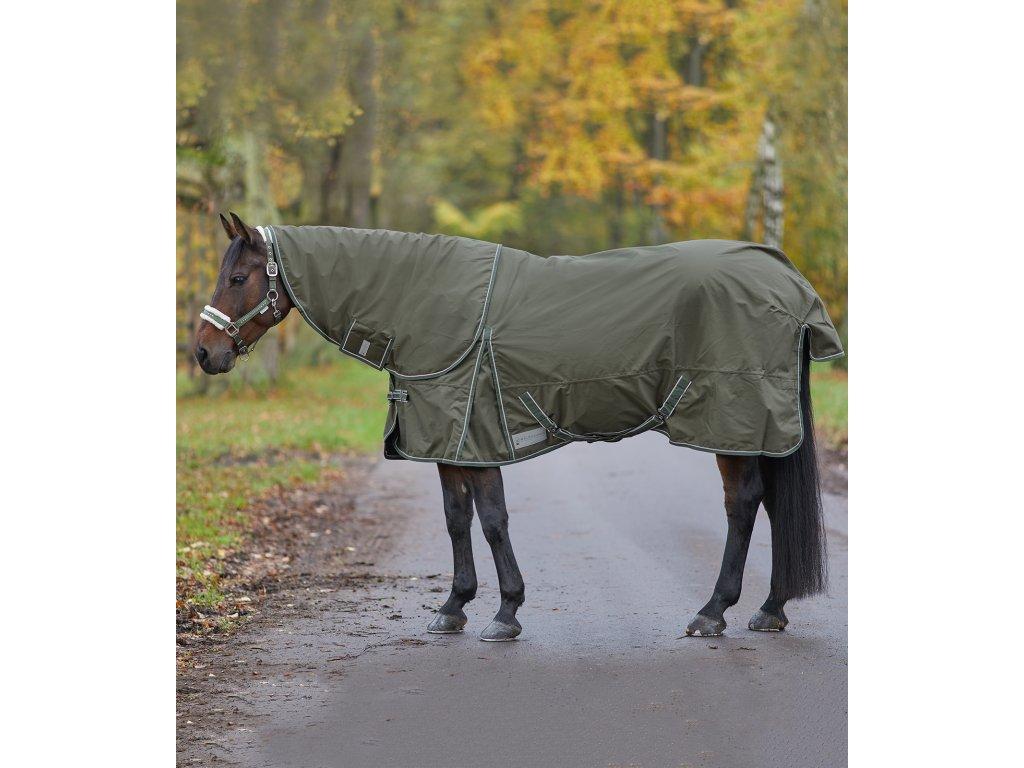 Deka výběhová fleece Economic camouflage green Waldhausen (Velikost 155cm)
