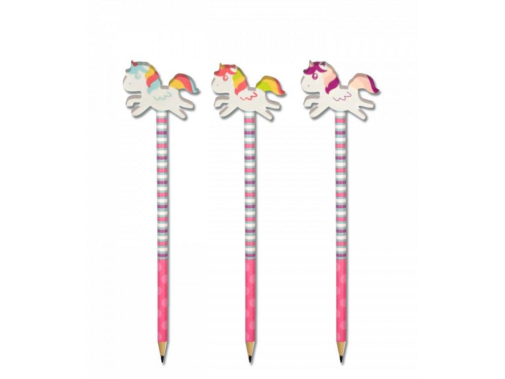 388 tuzka s gumou ve tvaru jednorozce unicorn