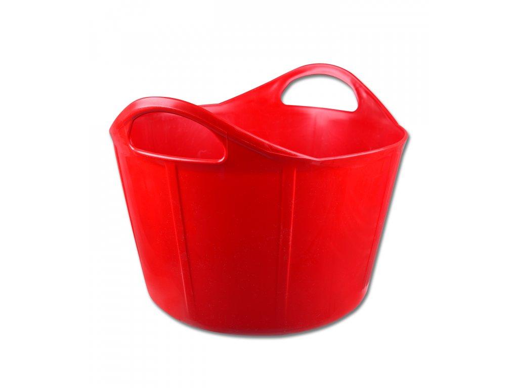Plastový kbelík Flexi 17L červený Waldhausen