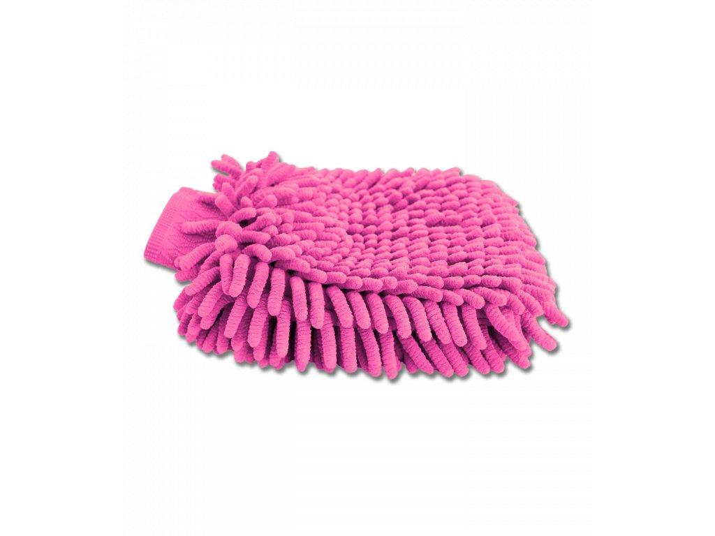 Čistící rukavice z mikrovlákna růžová Waldhausen