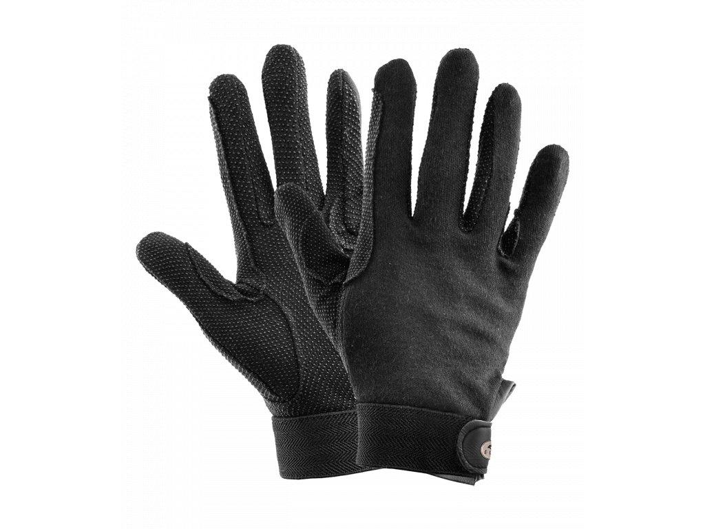 Jezdecké rukavice Picot letní černé ELT