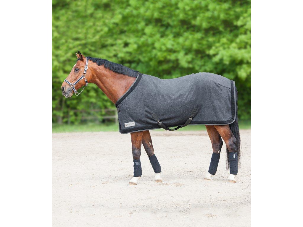 Odpocovací deka fleecová Esperia magnet/black Waldhausen