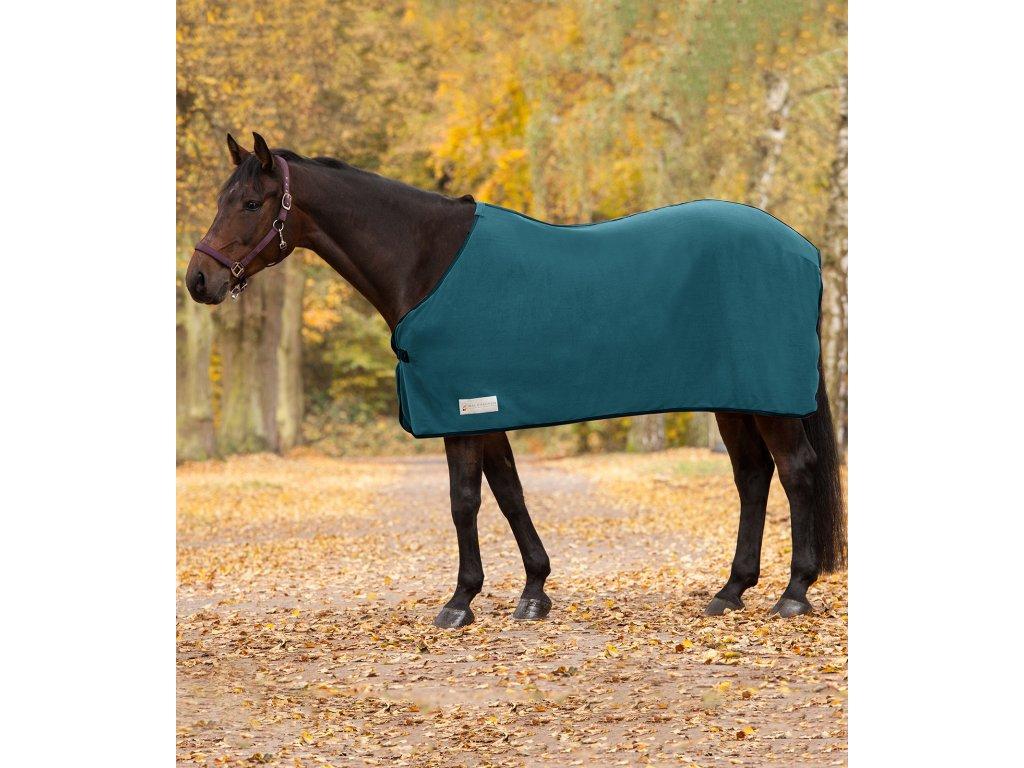 637 odpocovaci deka fleecova economic waldhausen peacock green 155cm