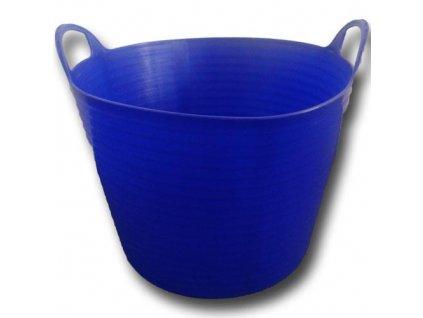 Plastový kbelík FLEXI, 42 45 l tmavě modrý